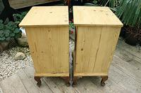 Beautiful & Unusual Old Pine Bedside Cabinets / Cupboards - We Deliver! (9 of 10)
