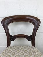 Single Victorian Mahogany Upholstered Chair (6 of 11)