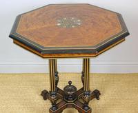 Outstanding Aesthetic Ebonised Birds Eye Maple & Gilt Bronze Table (3 of 10)