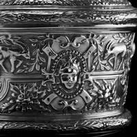 Rare Antique Solid Silver Cellini Tea Caddy Box - Mappin & Webb 1902 (21 of 28)