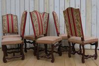 Set of Six French Oak Dining Chairs (5 of 9)