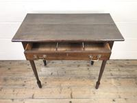 Antique 19th Century Oak Side Table (3 of 12)