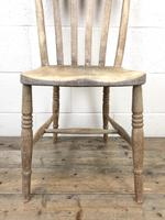 Pair of Antique Slat Back Farmhouse Kitchen Chairs (6 of 9)