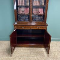 Exceptional Inlaid Victorian Antique Glazed Bookcase by Edwards and Roberts (5 of 10)