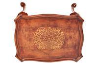 Queen Anne revival walnut coffee table