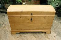 Wow! Big! Old Pine Domed Blanket Box / Chest / Trunk - We Deliver! (2 of 10)