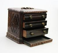Black Forest Miniature Apprentice Piece Carved Chest 19th Century (6 of 11)