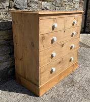 Antique Victorian Stripped Pine Chest of Drawers (4 of 15)
