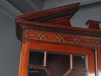 Antique George III Mahogany Bureau Bookcase (4 of 12)