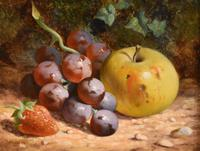 """Oil Painting Pair by William Hughes """"White Grapes"""" & """"Black Grapes"""" (4 of 5)"""