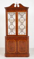 Mahogany Sheraton Revival Double Corner Cupboard (8 of 8)