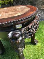 Chinese Hongmu Jardinière or Side Table with Marble Inset, Antique (8 of 16)