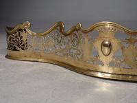 Fine George III Period Serpentine Pierced Brass Fender (2 of 5)