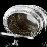 Rare Antique Solid Silver Cellini Tea Caddy Box - Mappin & Webb 1902 (15 of 28)