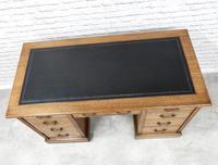 19th Century Oak Pedestal Desk (5 of 8)