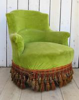Pair of French Antique Napoleon III Tub Armchairs (8 of 10)