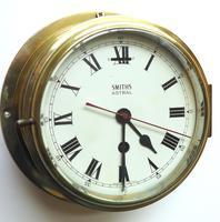 Superb Antique English Smiths Bulkhead Wall Clock 8 Day Ships Clock (6 of 11)