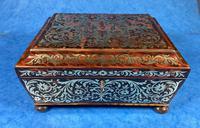 English Boulle & Brass Kingwood Edged Jewellery Box (16 of 16)