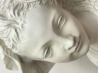 French Classical Young Lady Wearing Bonnet Wall Sculpture (7 of 20)