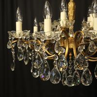 Italian 15 Light Gilded Brass Antique Chandelier (2 of 10)
