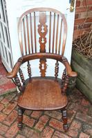 Beautiful Large Oak Country Farmhouse Armchair - 1940s (2 of 4)