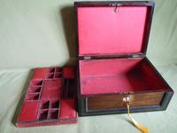 Large Inlaid Rosewood Jewellery – Work Box + Tray c.1840 (6 of 12)
