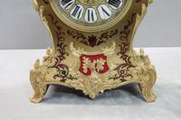 French Napoleon III Boulle Mantel Clock by Japy Freres (4 of 11)