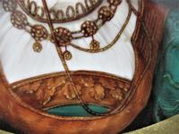 Antique Berlin Porcelain Dish in Repoussée Brass Frame c.1880 (5 of 10)