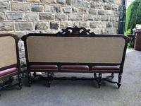 Matching Pair Antique Oak Benches (12 of 14)