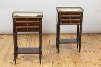 Pair of French Three Drawer Mahogany Bedside Cabinets (10 of 10)