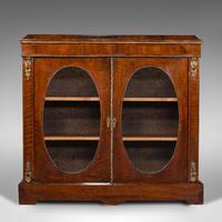 Antique Display Bookcase, English, Walnut, Boxwood, Empire, Cabinet, Regency (2 of 12)