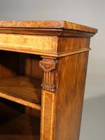 A Sophisticated Mid 19th Century Walnut Dwarf Open Bookcase (5 of 5)