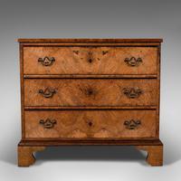 Antique Gentleman's English Burr Walnut Chest of Drawers - Georgian (3 of 12)