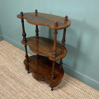Quality Victorian Rosewood Antique Whatnot (5 of 9)