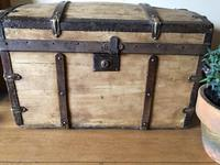 Antique Domed Wooden Sea Trunk c.1850 (2 of 13)