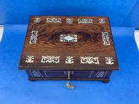 William IV Rosewood Box With Mother Of Pearl Inlay (3 of 14)
