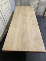 French Bleached Oak Farmhouse Dining Table (11 of 15)