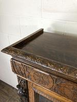Victorian Glazed Oak Cabinet with Carved Detail (4 of 10)