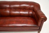 Antique Swedish Leather Club Sofa (5 of 11)