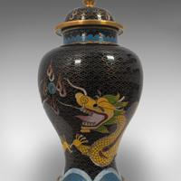 Pair of Antique Decorative Spice Jars, Chinese, Cloisonne, Baluster Urn c.1900 (12 of 12)