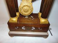 French Charles X Rosewood Portico Clock (8 of 9)