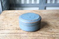 Scandinavian / Swedish 'Folk Art' original blue painted wooden storage Gustavian period, 1802 (2 of 15)