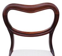 Set of 6 William IV Mahogany Balloon Back Dining Chairs c.1835 (4 of 8)