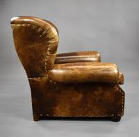 Large Brown Leather Arm Chair (8 of 8)