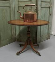 Oval Yew Wood Wine Table, Low Occasional Table (2 of 5)