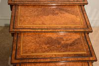 Sheraton Period Amboyna Inlaid Nest of Tables (4 of 6)
