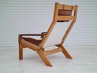 Scandinavian armchair, adjustable back, cowhide, 70s (20 of 20)