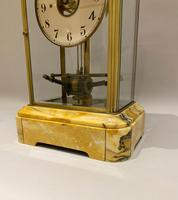 Sienna Marble Electric Bulle Four-glass Mantel Clock (4 of 13)