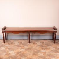 Large Late Victorian Mahogany Hall Bench Window Seat (2 of 11)