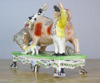 Rare Bull Baiting Staffordshire Figure Obadiah Sherratt (3 of 11)